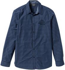 Bonprix Koszula z długim rękawem Regular Fit ciemnoniebieski w kratę