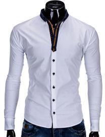 Koszula K283 - BIAŁA