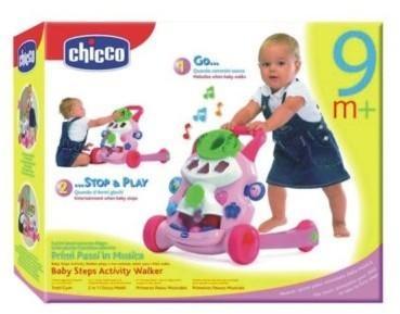 Chicco Zabawka Grający pchacz Różowy