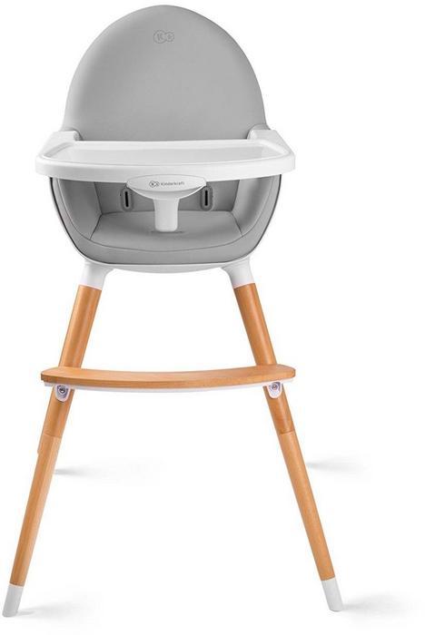 KinderKraft Krzesełko do karmienia 2w1 FINI grey + GRATIS KKKFINIGRY0000