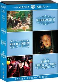 Tajemniczy ogród Mała księżniczka Charlie i fabryka czekolady DVD) Tim Burton Alfonso Cuaron Agnieszka Holland