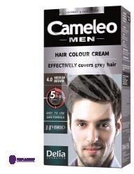 DELIA Cosmetics Cosmetics Cameleo Men Hair Colour Cream M) farba do włosów 4.0 Medium Brown 30ml