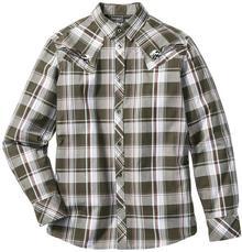 Bonprix Koszula z długim rękawem Slim Fit ciemnooliwkowy w kratę
