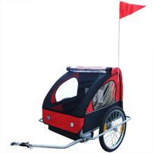 vidaXL vidaXL Przyczepka rowerowa dla dzieci Czerwona 36 kg