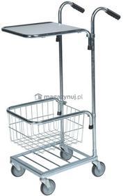 Kongamek Mały Wózek sklepowy, marketowy. Wym: 660x385x1090mm, 1 koszyk