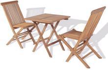 vidaXL Ogrodowy zestaw mebli bistro, 3 elementy, drewno tekowe