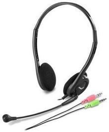 Słuchawki z mikrofonem Genius HS-200C czarne ( 31710151100 ) Darmowy odbiór w 21 miastach od 30zł!