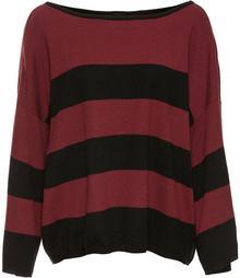 """Bonprix Sweter oversize """"boxy"""" czarno-czerwony klonowy"""