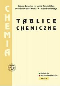 Tablice chemiczne - Jolanta Sawicka, Anna Janich-Kilian, Wiesława Cejner-Mania