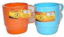 Outdoor boyz Toys piknik Forest kubek do kawy z tworzywa sztucznego, 2 sztuki, pomarańczowy 5029476006915