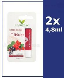 COSNATURE COSNATURE Naturalny ochronny balsam do ust z ekstraktem z czerwonych owoców 2 x 4,8 g