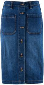 """Bonprix Spódnica dżinsowa ze stretchem niebieski """"stone"""