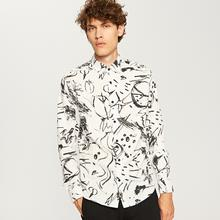 RESERVED Koszula we wzory - Biały