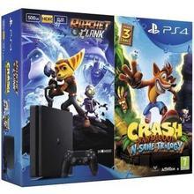 Sony PlayStation 4 Slim 500GB Czarny + Crash Bandicoot + Ratchet&Clank