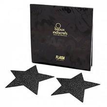 Bijoux Indiscrets Naklejki na sutki - Bijoux Indiscrets Flash Star Black Czarna Gwiazda BU004B