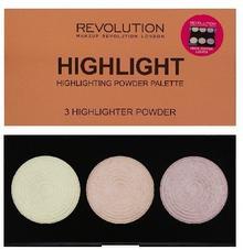 Revolution Makeup Makeup Revolution, Highlighter Palette, paleta rozświetlaczy Radiance, 15 g
