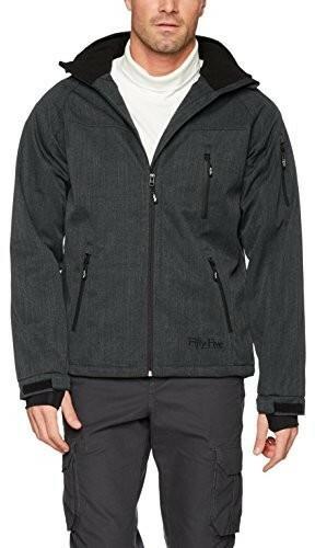 Five Fifty męska kurtka zimowa kurtki Forester narciarskie Tex Membrane na odzież do aktywności na świeżym powietrzu, kolor: szary, rozmiar: small B079TNV84V