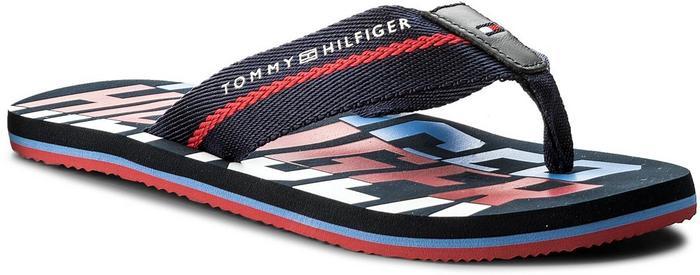 d622326a76b9c Tommy Hilfiger Japonki Bold Hilfiger Beach Sandal FM0FM01367 Midnight 403 –  ceny