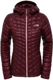 The North Face KURTKA W THERMOBALL HOODIE/DEEP GARNET RED