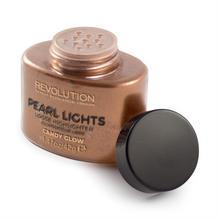 Revolution Makeup MAKE UP Revolution Pearl Lights Loose Highlighter Puder sypki rozświetlający Candy Glow 25g