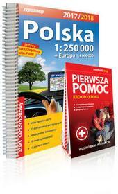 ExpressMap praca zbiorowa Polska atlas samochodowy 1:250 000 + Pierwsza pomoc - krok po kroku - ilustrowana instrukcja
