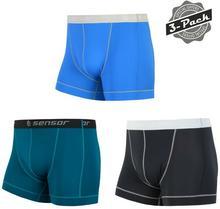 Sensor bokserki męskie Coolmax Fresh 3 Pack czarne/szafirowe/niebieskie S
