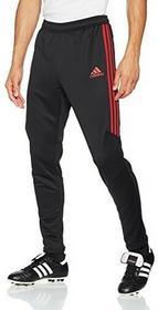 Adidas piłka nożna AC Mailand ACM spodnie treningowe długie spodnie męskie czarno-czerwony, czarny, xl AZ7110