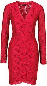 Bonprix Sukienka koronkowa ciemnoczerwony