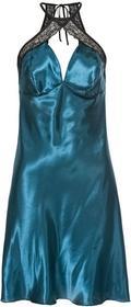 Bonprix Koszulka nocna niebieskozielono-czarny