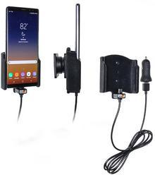 Brodit AB Uchwyt do Samsung Galaxy Note 8 z wbudowanym kablem USB oraz ładowarką samochodową 721005