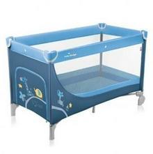 Baby Design Łóżeczko turystyczne Simple 03 niebieski SIMPLE 03