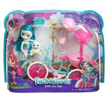 Mattel Enchantimals, lalka z rowerem dla dwojga, zestaw, FCC65