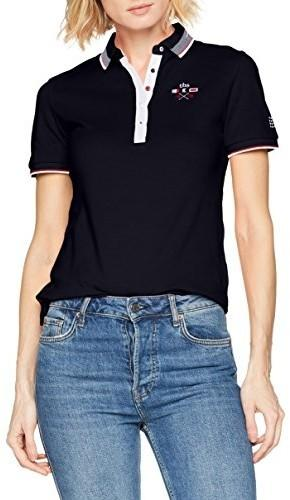 TBS damska koszulka polo not tipol, kolor  niebieski (granatowy) , rozmiar  5ff0a5a07e12
