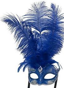 The good life Damskie Niebieski i srebrny sprężyny żyły wenecki karnawał Masquerade strona maska B074J7YZ9Y