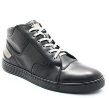 Kent 303 CZARNE - Zimowe buty męskie, skóra 303 CZARNE
