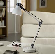 Kremowa, regulowana lampka biurkowa Neo