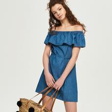 niebieski Sinsay Sinsay - Jeansowa sukienka -