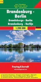 Brandenburgia Niemcy część 11 mapa 1:200 000 Freytag & Berndt Freytag&Berndt