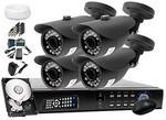IVELSet Zestaw do monitoringu: Rejestrator 4 kanałowy LV-HDVR0401H + 4x Kamera LV-AL20MT + Dysk 1TB