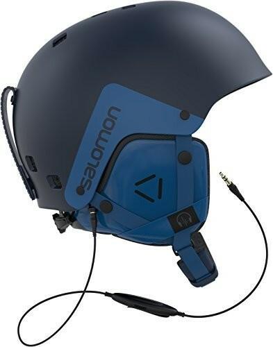 Salomon męski kask dla narciarskie i snowboardowe Snow Park, miska, od wewnątrz pianka EPS, sieć przewodowa audio system ABS, Brigade audio, niebieski L39915200