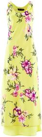 Bonprix Sukienka jasna limonka w kwiaty