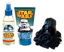 Disney Star Wars zestaw na prezent EDT, łazienki, szampon i piankowy, gąbka, 1er Pack (1 X 3 sztuki) 2620
