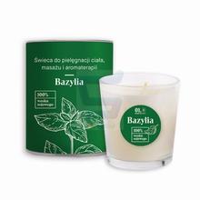 Vis Plantis 01. Basil Element Świeca do pielęgnacji ciała, masażu i aromaterapii Bazylia 100 ml
