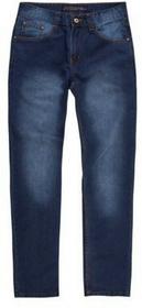 Spodnie męskie jeansowe z kieszeniami, z rozporkiem, z prostą nogawką