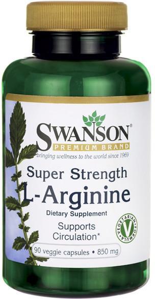 SWANSON Super Strength L-Arginina 850 mg 90 kapsułek