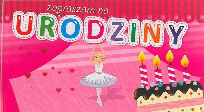 Zaproszenie na urodziny Baletnica różowe 5 sztuk Avanti