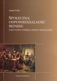Księgarnia Akademicka Janina Filek Społeczna odpowiedzialność biznesu