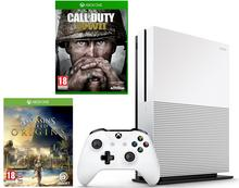 Microsoft Xbox One S 500GB Biały + Call Of Duty WWII + Assassins Creed Origins + 6M Live Gold