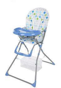 FUN BABY Krzesełko do karmienia dzieci, rozkładane - Basic- niebieskie KC128-NB