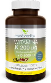 MEDVERITA Witamina K VitaMK7 200g + D 2000IU (120 kapsułek) Medverita